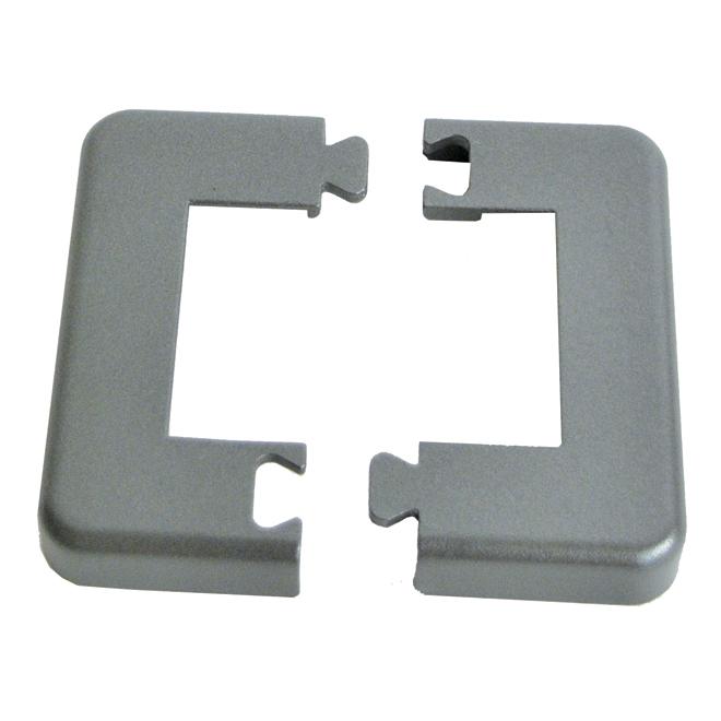 Plaque de base pour poteau, 2 1/4'',  7,5'' x 5,9'', gris titane