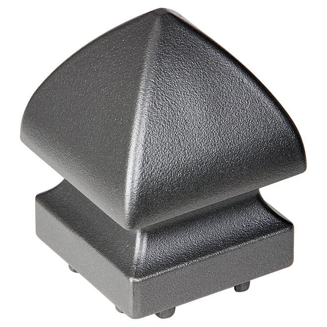 Railing Post Cap - Pyramid - Aluminum - Titanium Grey