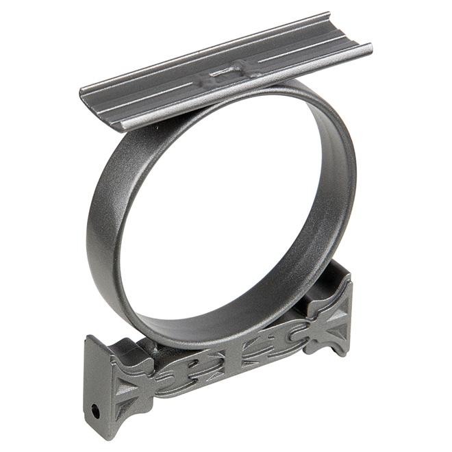 Cercle décoratif pour rampe, 8,5'' x 6,1'' aluminium, gris titane