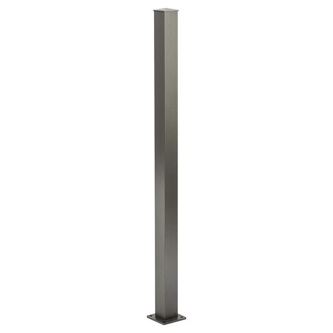 Poteau d'escalier, 4'' x 4'' x 42'', gris titane
