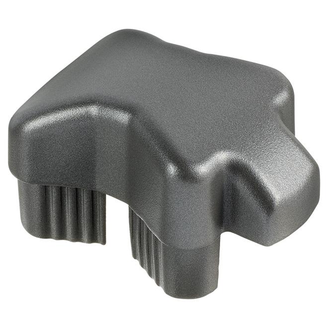 Capuchon pour main courante, 7'' x 4 3/4'', aluminium