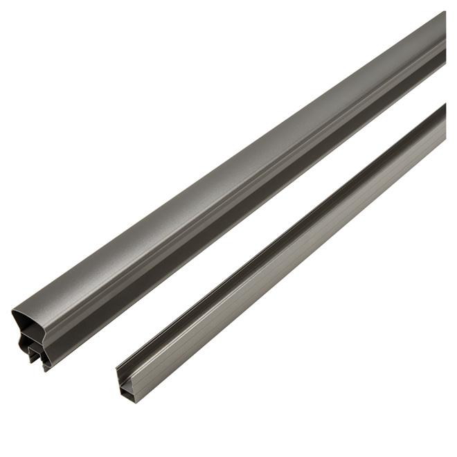 Stair Top and Bottom Rails - 12' - Aluminum - Titanium Grey