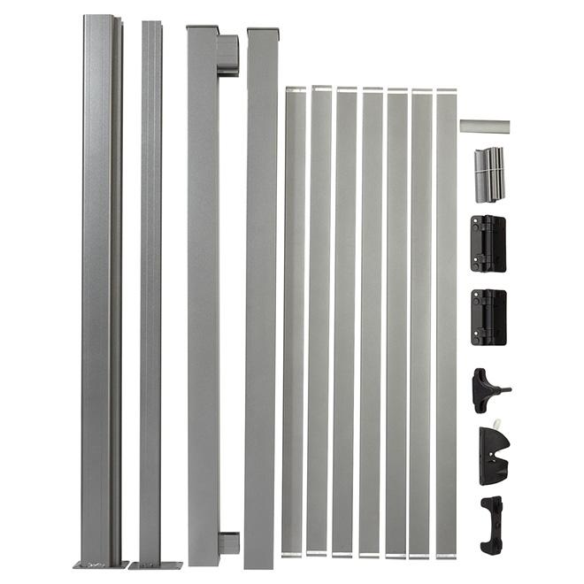 Ensemble de barrière à barreaux larges, 42'', aluminium