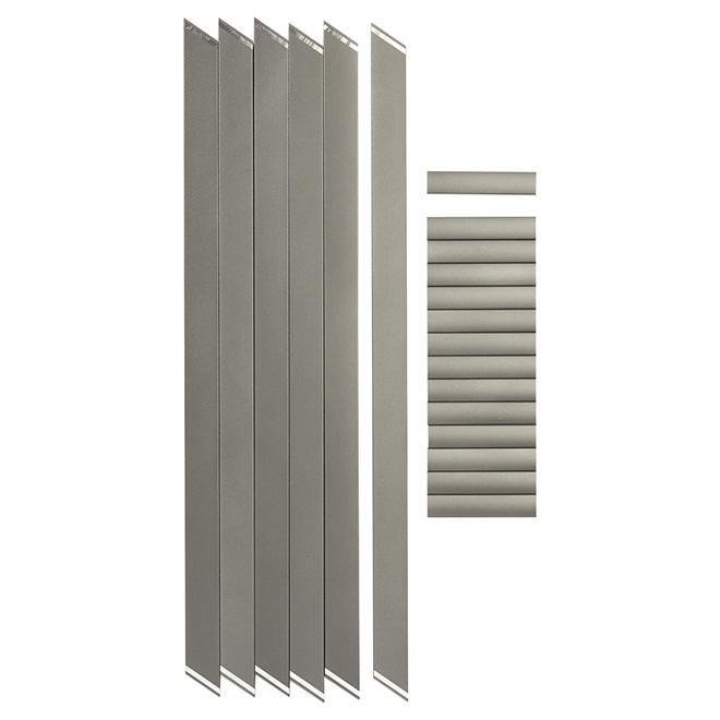 Barreaux pour rampe d'escalier, 3', 1 9/16'', 6/pqt, gris titane