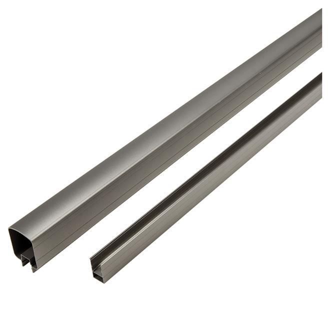 Top and Bottom Rails - 6' - Aluminum - Titanium Grey