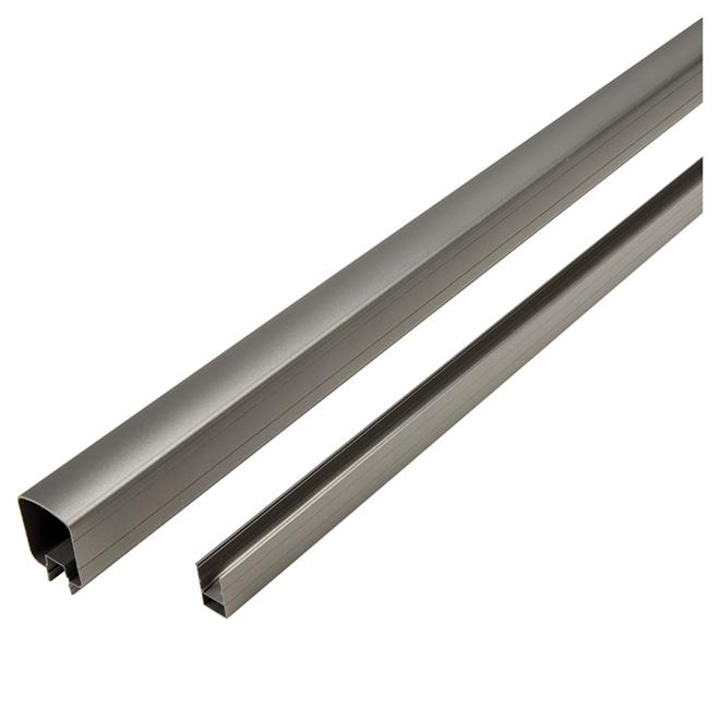 Rampes supérieures et inférieures, 8', aluminium, gris titanium