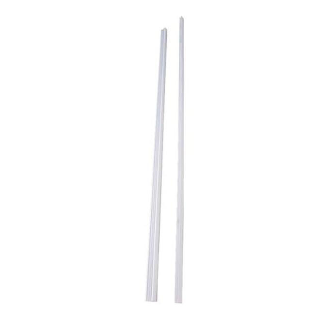 Classic Railing Top and Bottom Aluminum Rails - 93-in - White