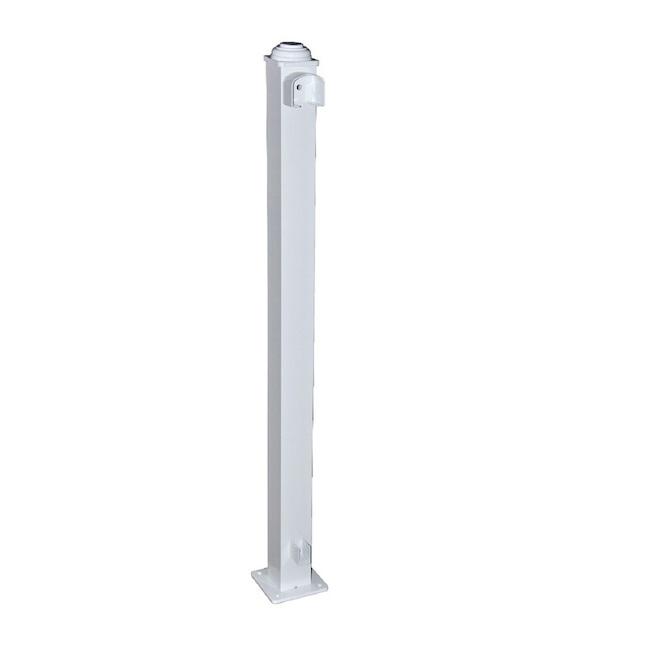 Classic Railing End Post - Aluminum - 3.67-ft x 2.75-in - White
