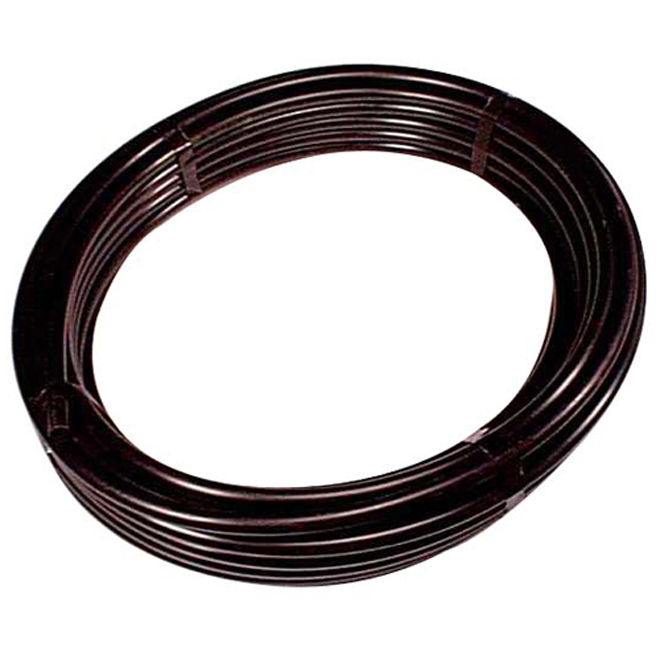 "Polyethylene Utility Pipe - 3/4""x100' - Black"