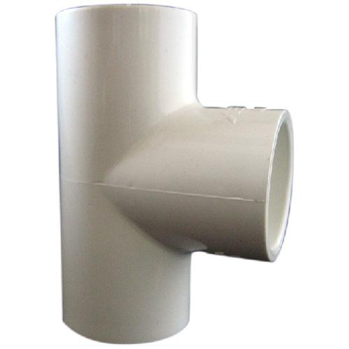 """Réducteur industriel té en PVC, 1""""-1/2"""", blanc"""
