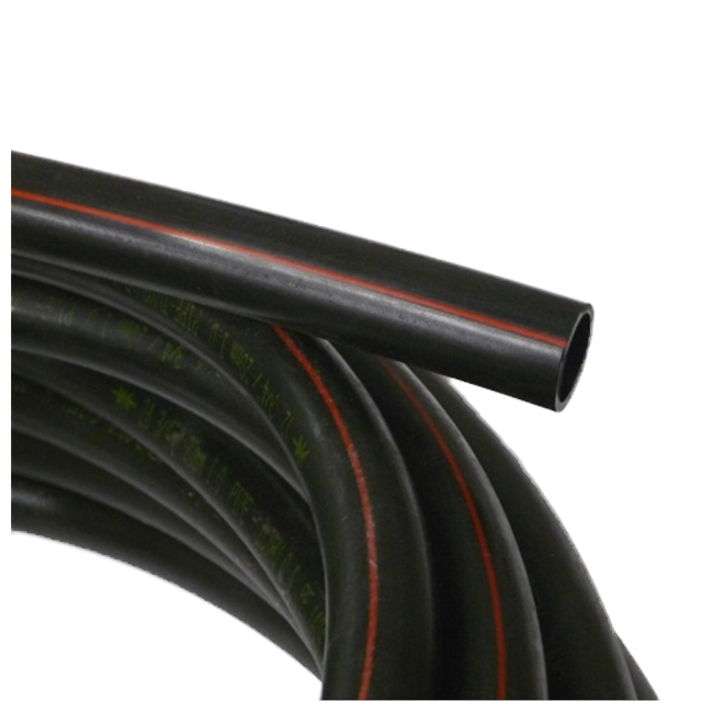 """Drinking Water Pipe - 3/4"""" x 400' - 75 psi - Black/Red"""