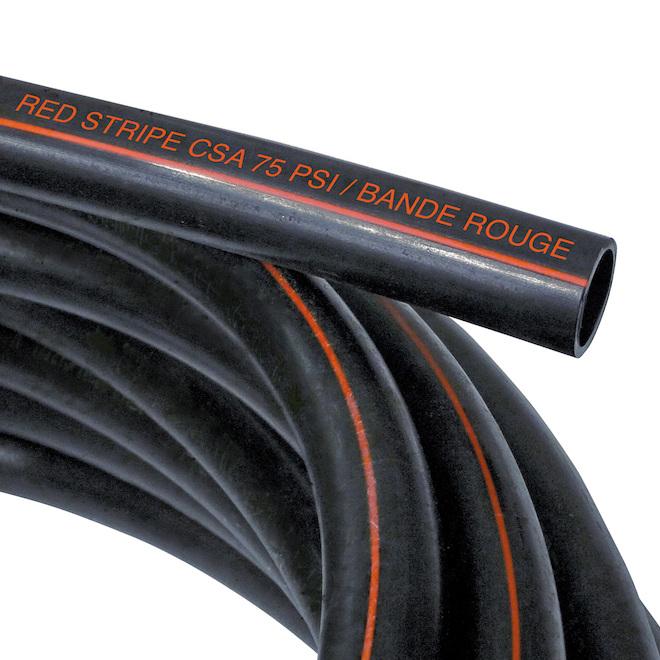 Tuyau en polyéthylène à bande rouge Ipex, 75 psi, standard, 1 po de diamètre x 300 pi de long