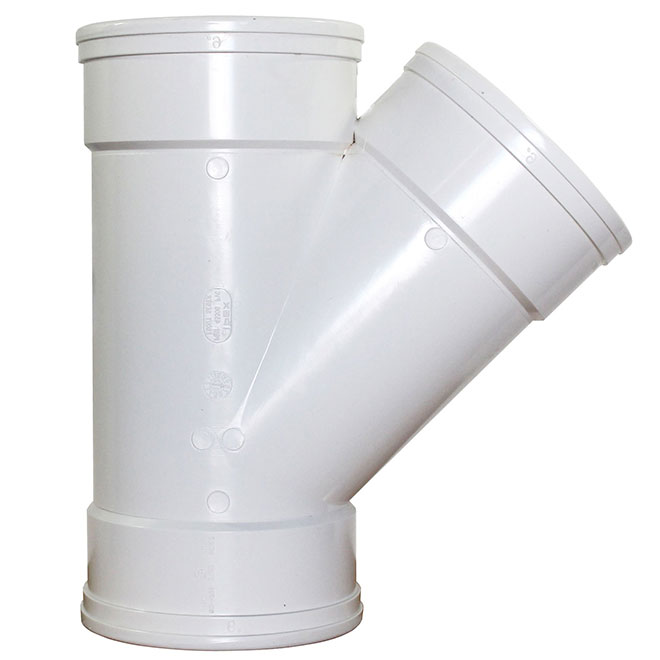 45° Elbow - 5'' x 5'' - Female to Female - White