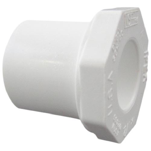 """Réducteur industriel en PVC, 1 1/2""""-1"""", blanc"""