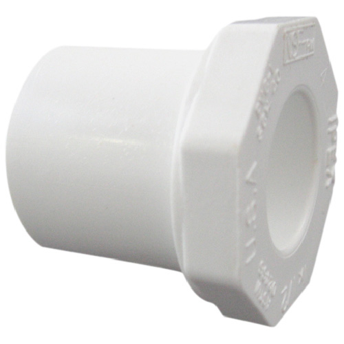 Industrial PVC Reducer Bushing - 2''-1 1/2'' - White