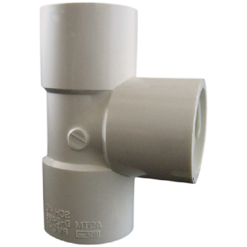 Industrial PVC Tee Coupling - 3/4'' - White