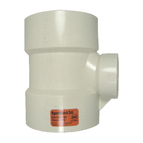 Schedule 40 PVC Hub Tee for Flue Gas Vent System