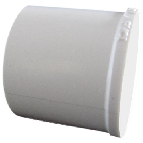 """Bouchon à emboîtement industriel en PVC, 3/4"""", Blanc"""