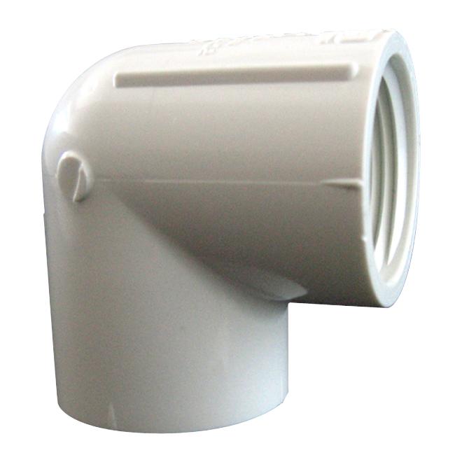 Coude fileté en PVC 1-1/4 po