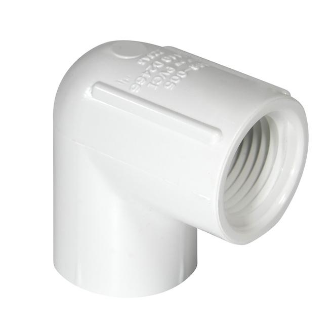 Coude fileté en PVC 1-1/2 po
