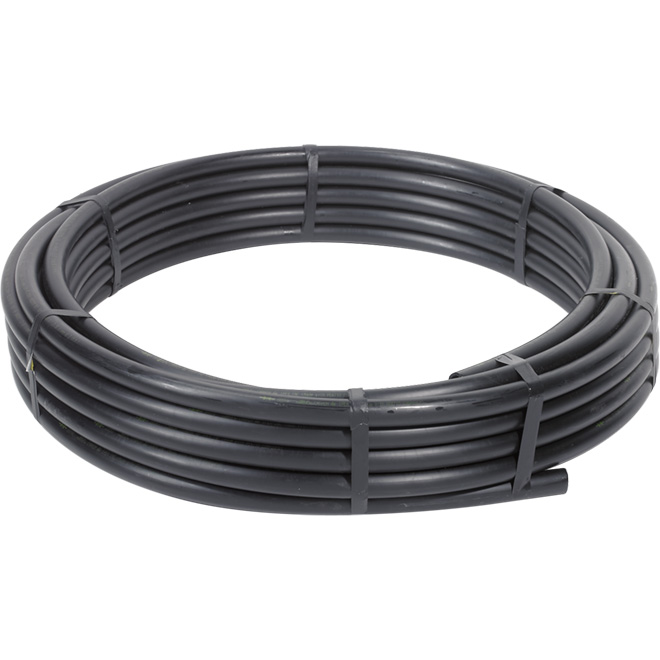 "Polyethylene Utility Pipe - Municipal Services - 1"" - Black"