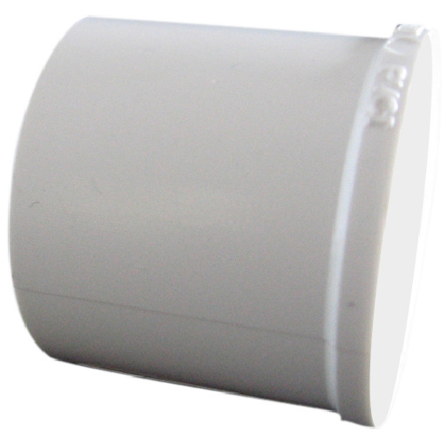 "Industrial PVC Pipe Plug - 1 1/4"" - White"