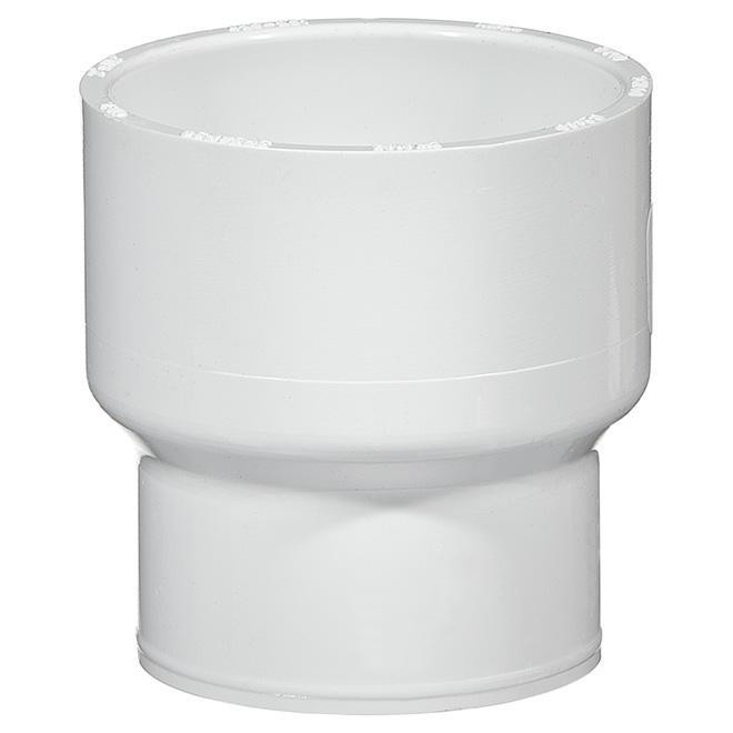 "PVC Reducer Coupling - SCH40 - 2"" x 1 1/2"" - White"