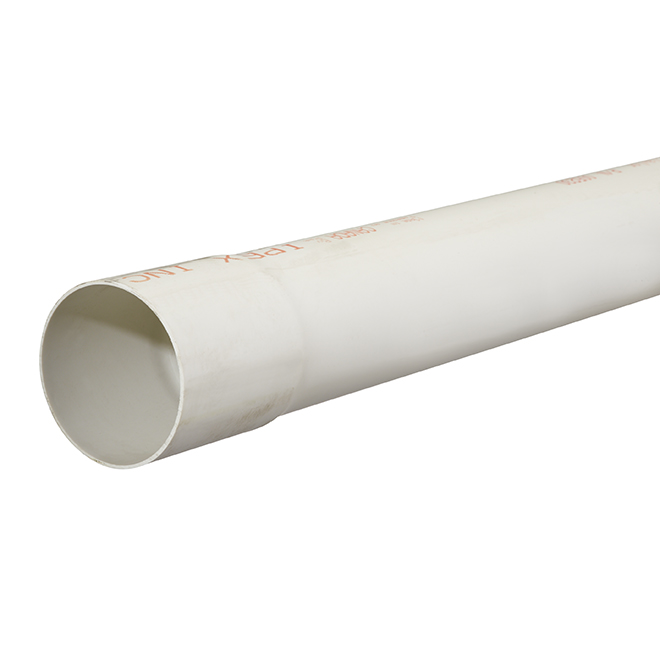 "PVC Sewer and Drain Pipe - 3"" x 10' - White"