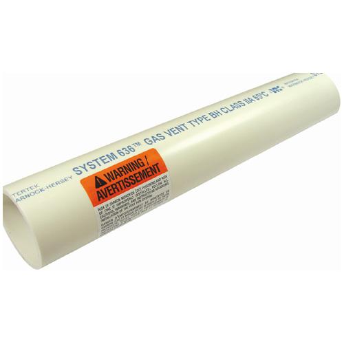"Gas Vent Pipe - PVC - 3""x10'"