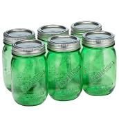 Mason Style Vintage Pint Jars  - 500 ml - Pack of 6 - Green