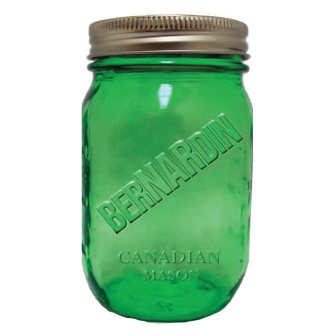 Mason Style Vintage Pint Jars  - 946 ml - Pack of 6 - Green