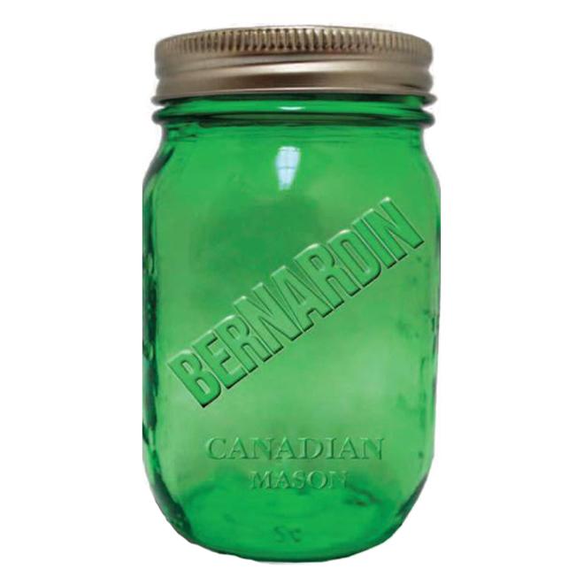 Bocaux d'époque style pot Mason, 946 ml, paquet de 6, vert