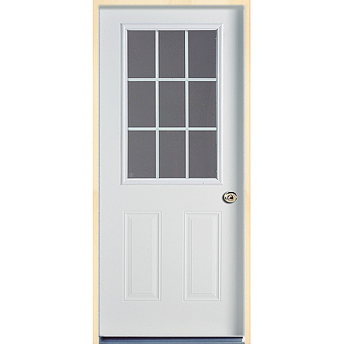 9-Lite Steel door