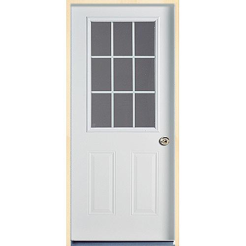 9-Lite Steel door