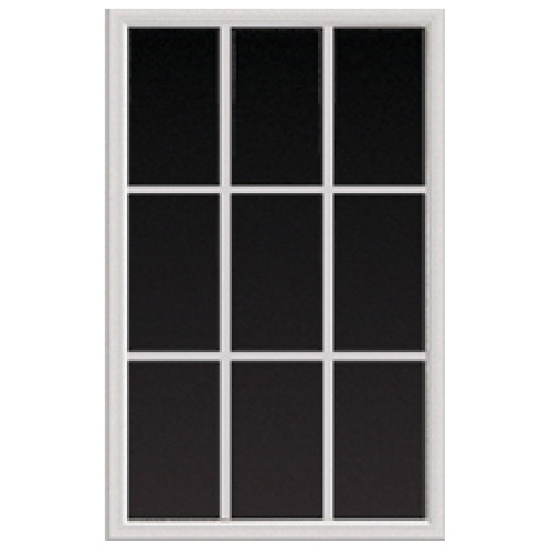 Exterior Door Window Insert - 22'' x 36'' -9  Panes - White