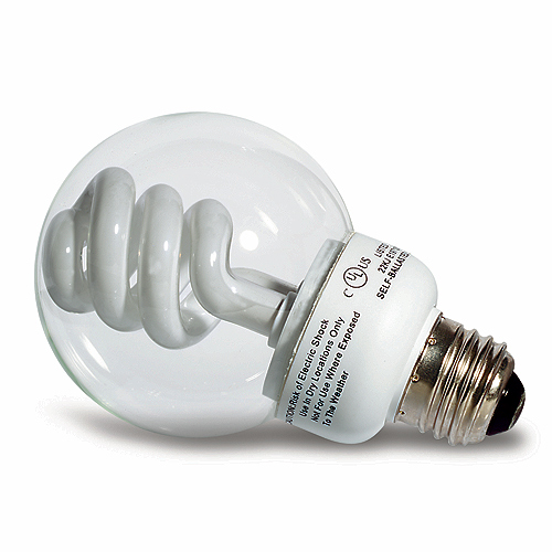 CFL Vanity Light Bulb - 9 W