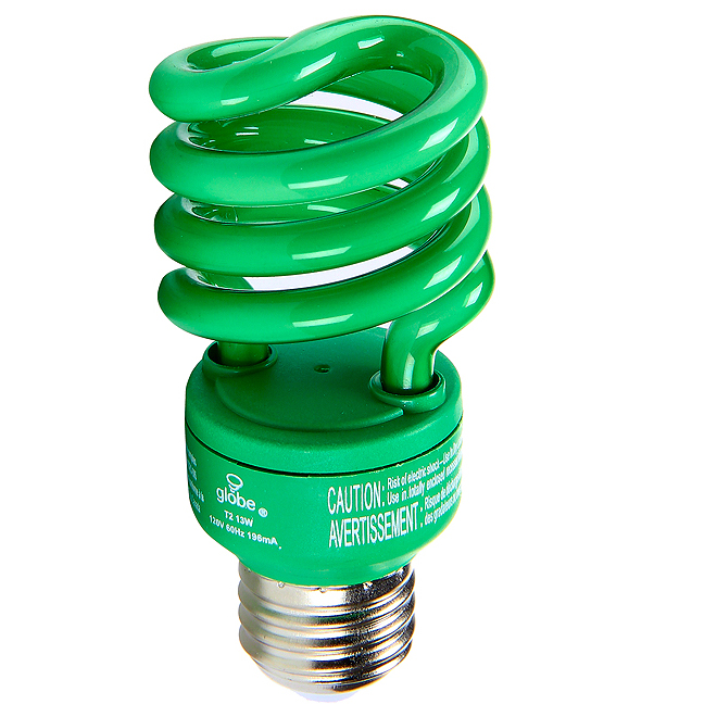 Ampoule fluocompacte verte de 13 W