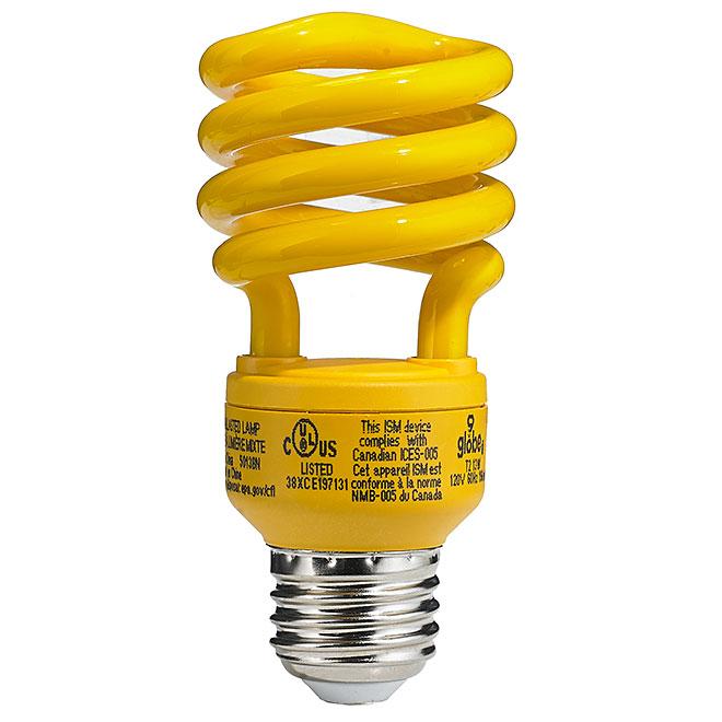 Ampoule jaune anti-insectes de 13 W