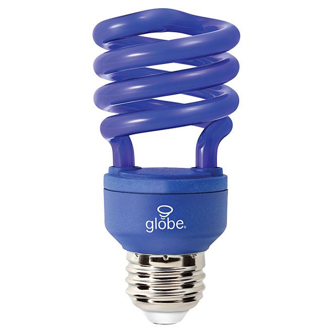 Compact Fluorescent T2 Spiral Bulb - 13 W - Blue - 1/Pk