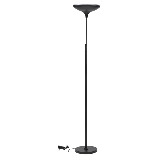 "LED Floor Lamp - 71"" - Metal/Plastic - Black"