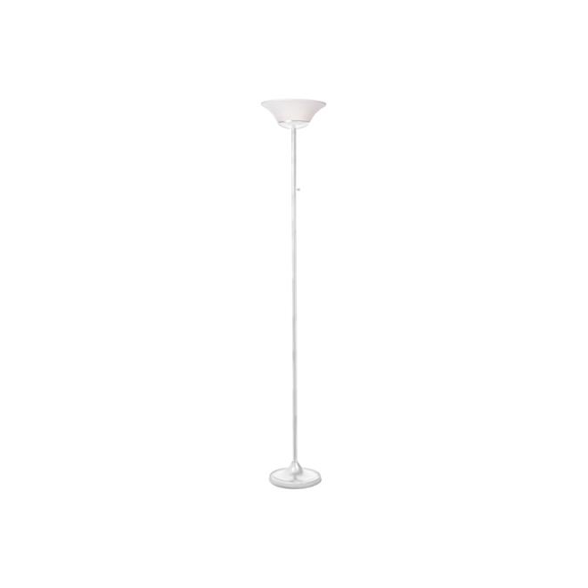 "Lampe sur pied 70"", Contessa, DEL 15 W, blanc mat"