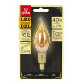 Ampoule DEL 2,5 W, style bougie rétro, blanc doux