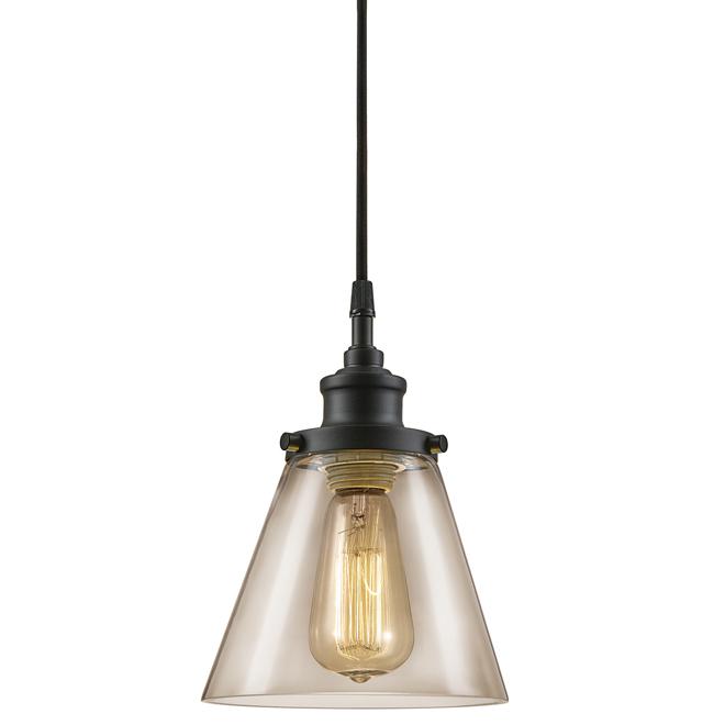 Luminaire suspendu enfichable, 60W, 15', noir