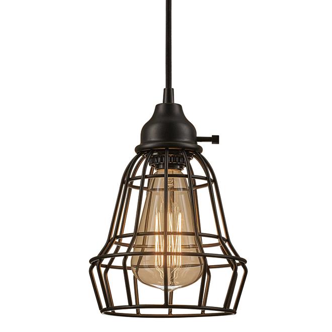 Luminaire suspendu enfichable, 60W, 15', bronze