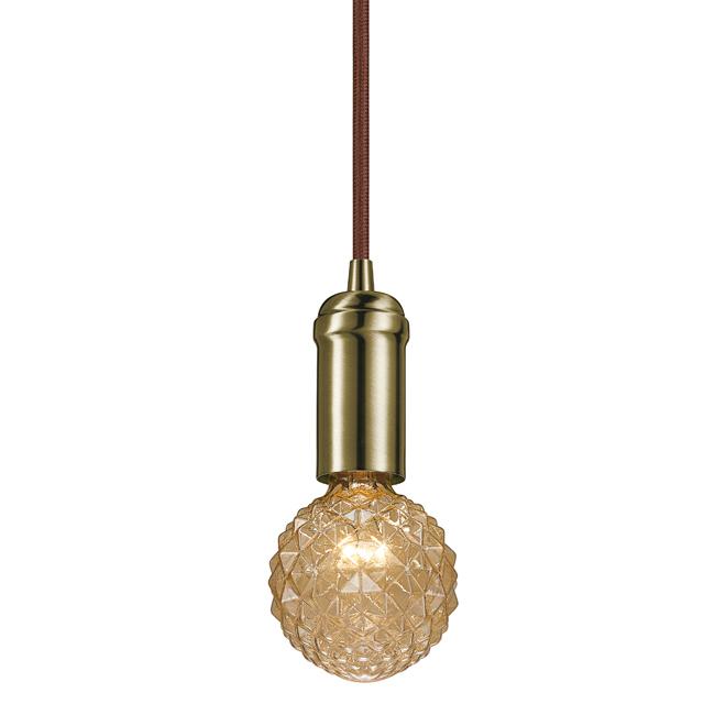 Luminaire suspendu enfichable, 60W, 15', bronze foncé