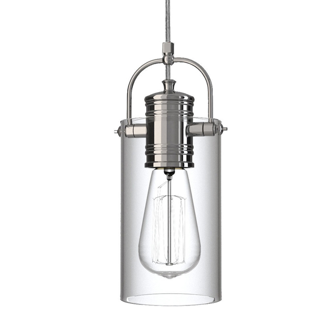 Suspension, 1 lumière, branchement direct, 60 W, chrome