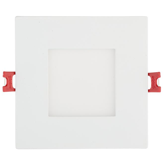 Luminaire encastré à intensité réglable, carré, DEL 9 W