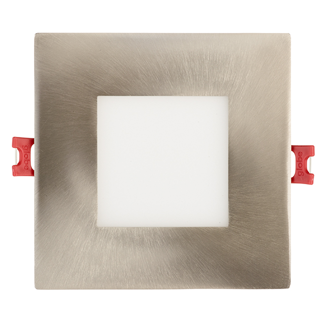 Dimmable Recessed Light - Square - 9W LED - Brushed Nickel