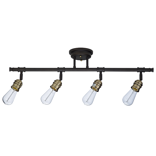 """Vintage"" 4-Light Track Light - Oiled Bronze"