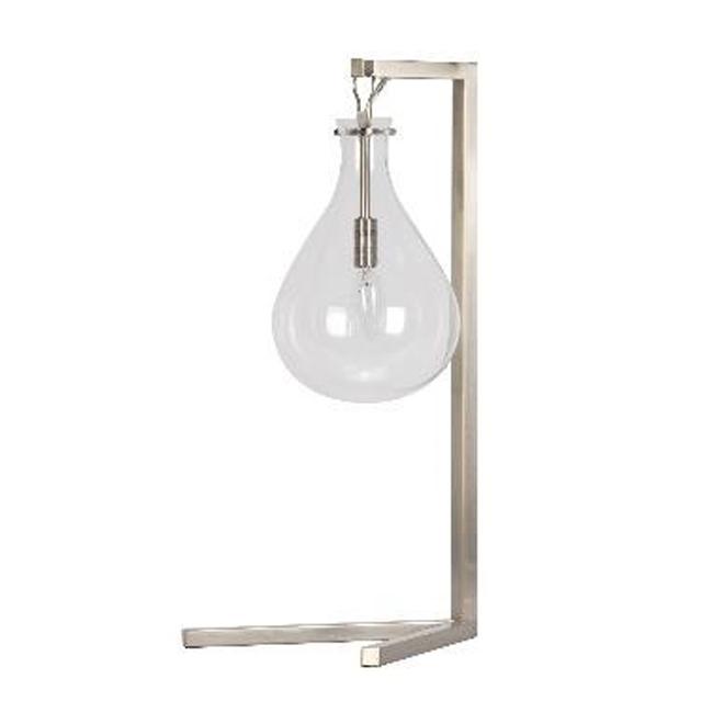 "Globe Table Lamp - 26"" - Metal/Glass - Brushed Nickel"